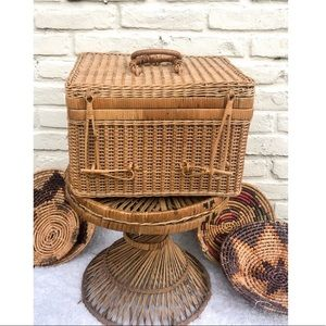 Large Rattan Woven Picnic Tote